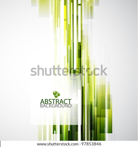 straight green lines abstract