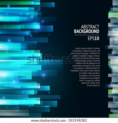 Straight lines abstract vector background. Dark backdrop. Lighting effect.