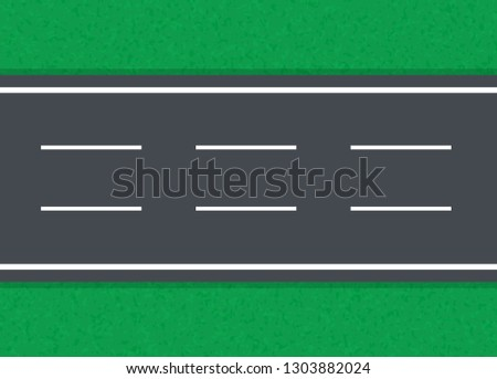 straight road on a green