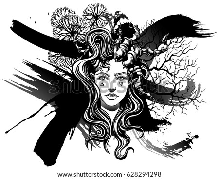 strange demon girl  with