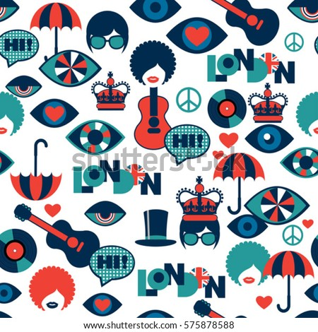 strange seamless british pattern
