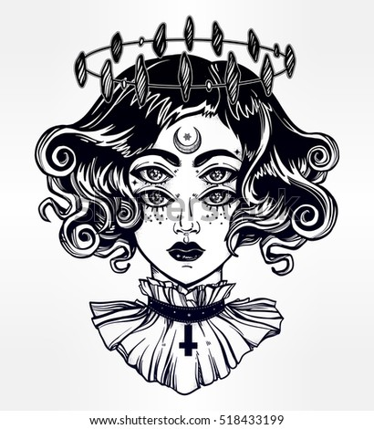 strange witch girl head