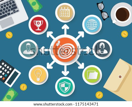 Strategy and business vector info graphic