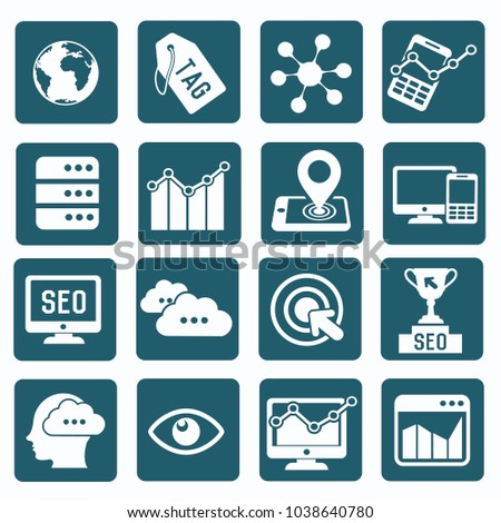 Strategy and marketing icon set vector design