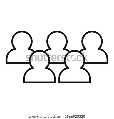 Strategy audience icon. Outline strategy audience vector icon for web design isolated on white background