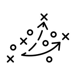 Strategy, football icon. Simple line, outline vector elements of soccer for ui and ux, website or mobile application