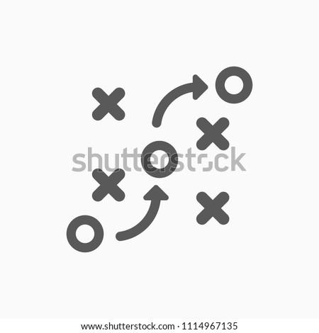 strategy icon, tactics vector