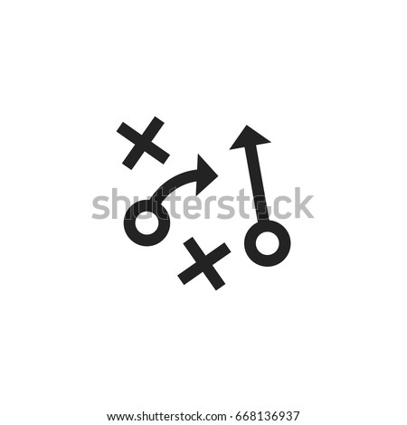 strategy icon vector isolated