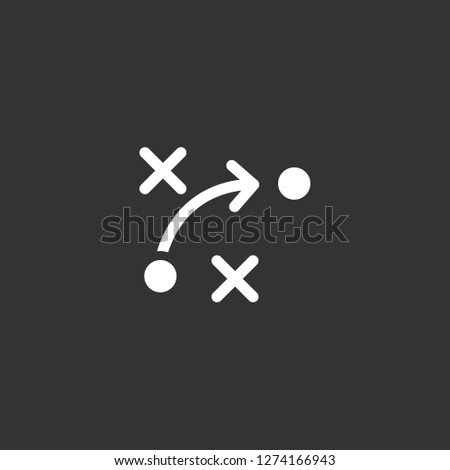 strategy icon vector. strategy vector graphic illustration