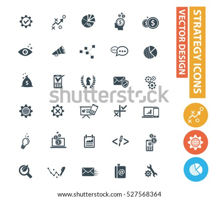 strategy icons,clean vector #527568364
