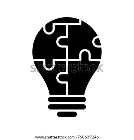 Strategy idea glyph icon