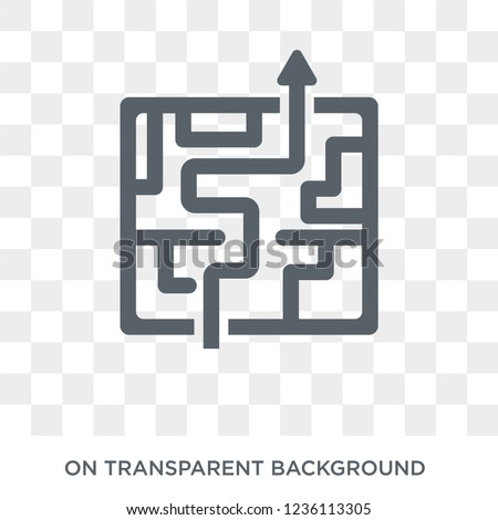Strategy in a labyrinth icon. Strategy in a labyrinth design concept from Strategy 50 collection. Simple element vector illustration on transparent background.