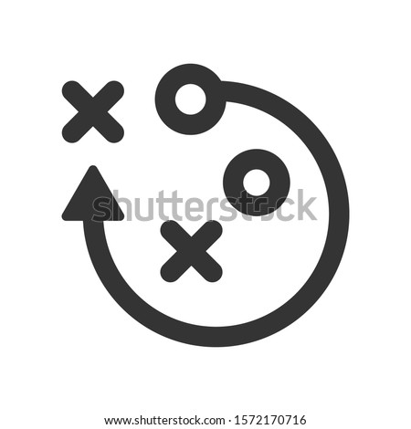 Strategy planning icon. vector graphics Stock fotó ©