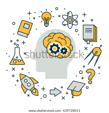 Strategy, solutions and inventions design, vector illustration.