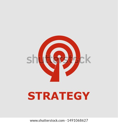 Strategy symbol. Outline strategy icon. Strategy vector illustration for graphic art.