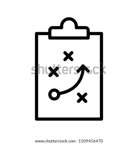 strategy thin line vector icon