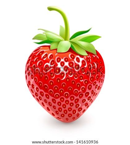 strawberries vector eps 10
