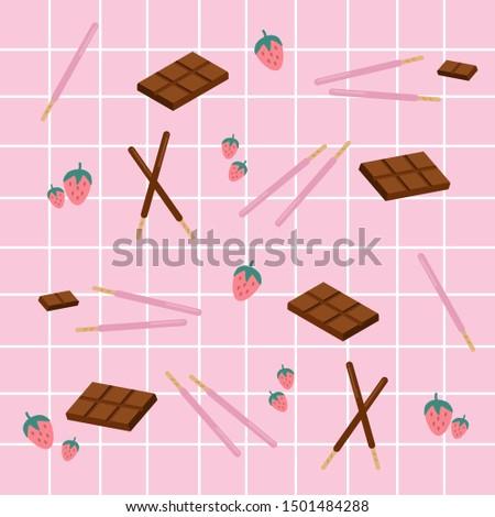 strawberry and chocolate pepero