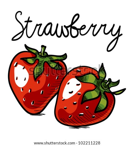 Strawberry art