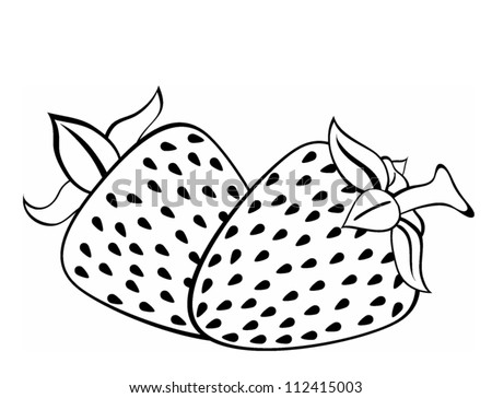 strawberry vintage black and white strawberry clip art black and whit ...
