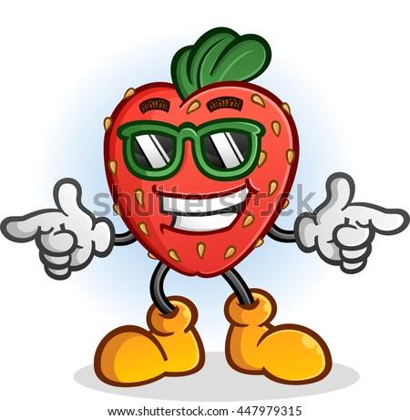 strawberry cartoon character