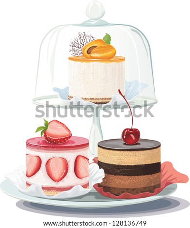 strawberry creamy cake and
