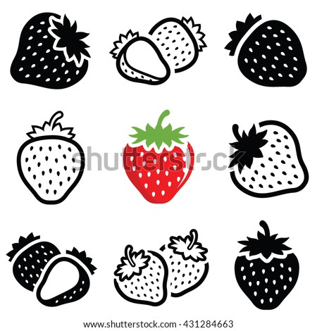 strawberry icon collection