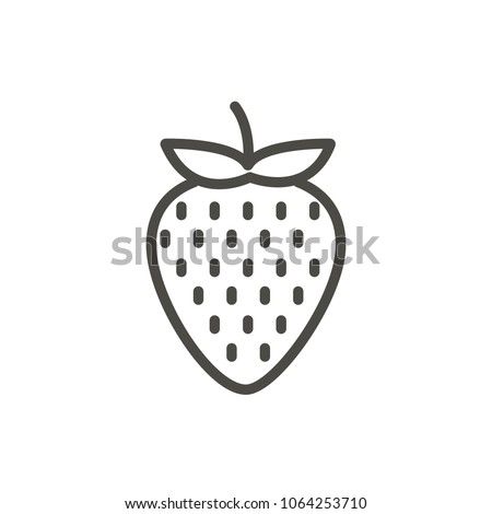 Strawberry icon vector. Outline fruit , line strawberry symbol. Trendy flat ui sign design. Thin linear graphic pictogram for web site, mobile application. Logo illustration.