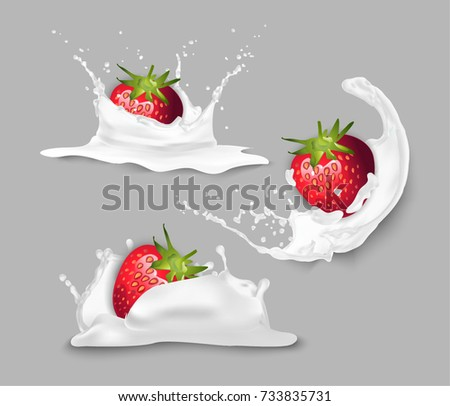 Strawberry in yogurt.