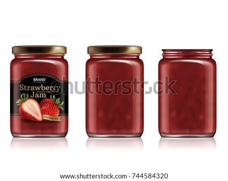 strawberry jam package design