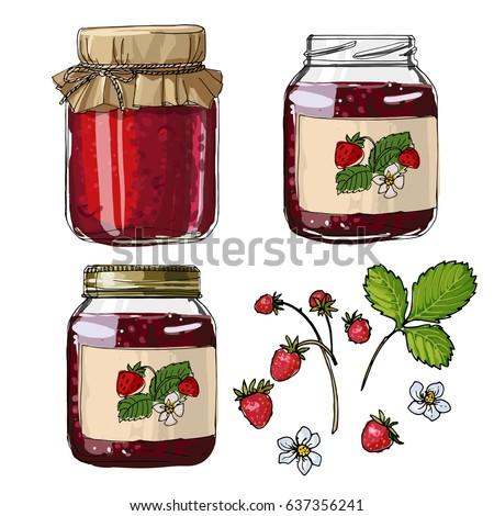 strawberry jam strawberries