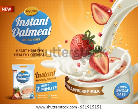 strawberry oatmeal ad  with