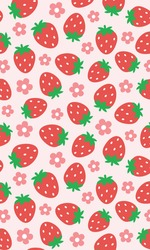Strawberry Patterns, Red strawberry, Strawberry Backgrounds, Strawberry Love Cards Vector Stock Vector Illustration.