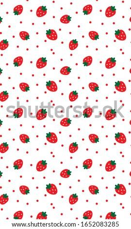 strawberry patterns  red