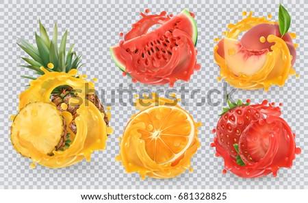 strawberry  pineapple  orange