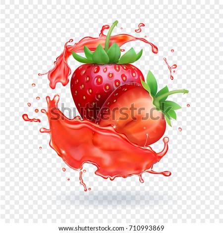 strawberry realistic juice