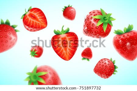 strawberry set  detailed