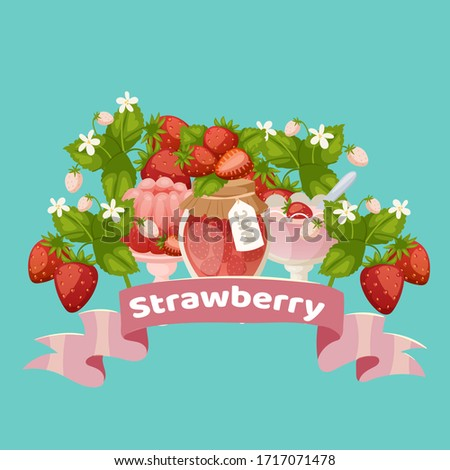 strawberry sweet desserts with