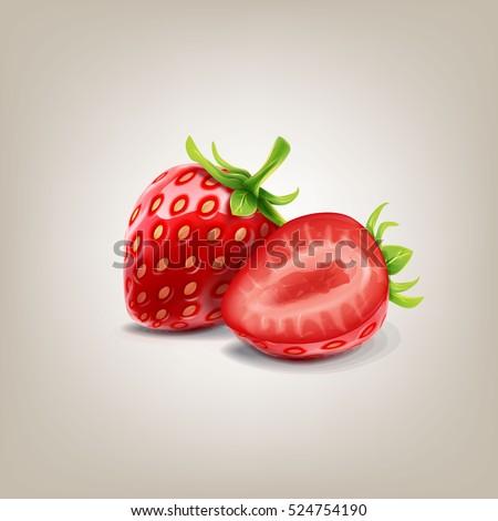 Shutterstock strawberry vector