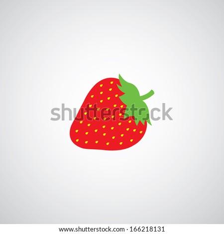 strawberry vector cartoon on