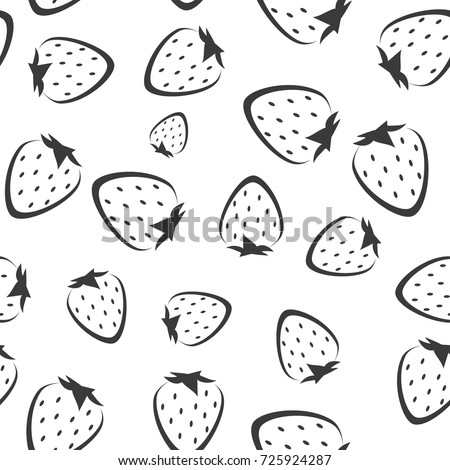 strawberry vector seamless