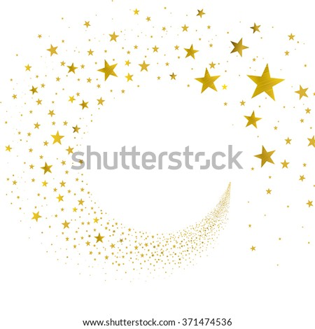 stream gold stars on a white background