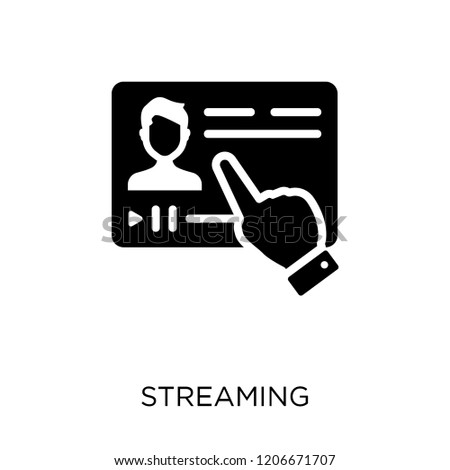 Streaming icon. Streaming symbol design from Online learning collection.