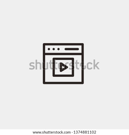 Streaming vector icon. Streaming concept stroke symbol design. Thin graphic elements vector illustration, outline pattern for your web site design, logo, UI. EPS 10.