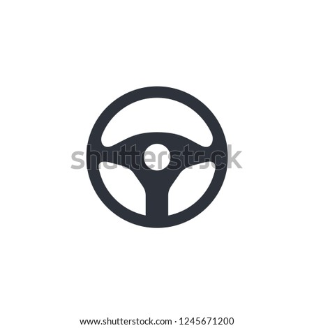 streering wheel drive icon vector logo template
