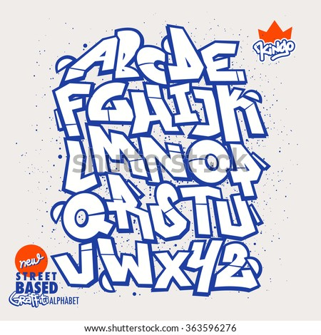 street based graffiti font