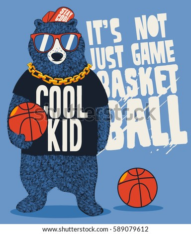 street basketball player bear