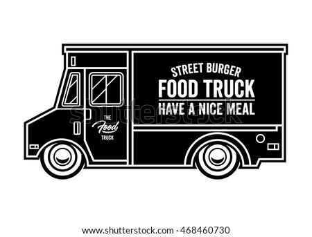 Food Truck Vector Illustration Have A Nice Meal