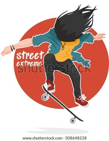 street extreme skater girl