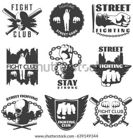 street fighting black white